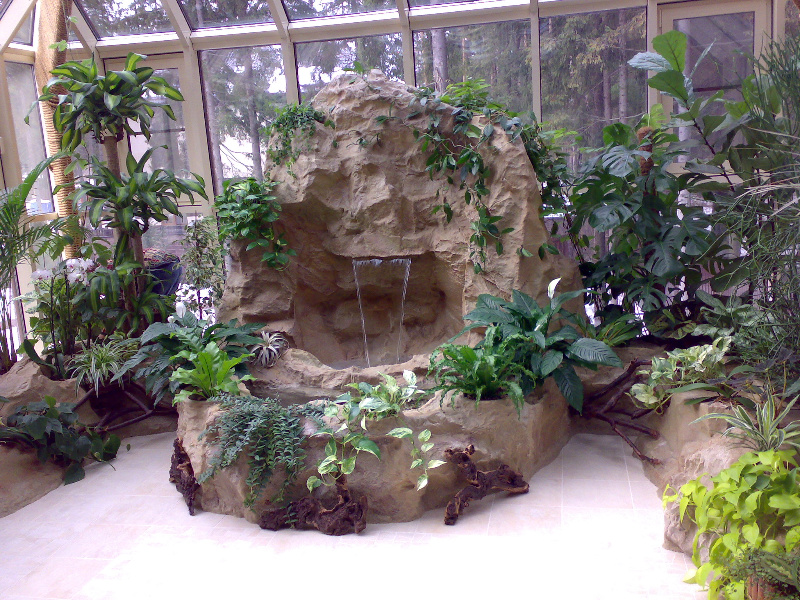 Декор для зимнего сада