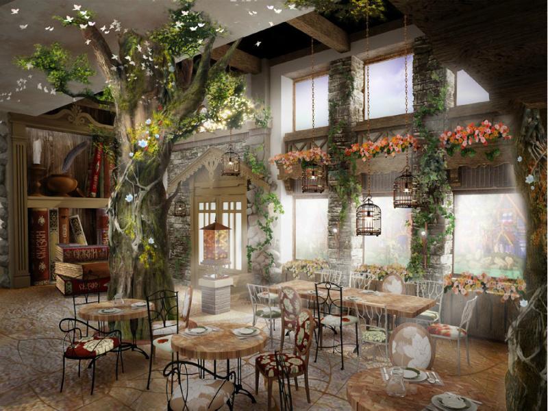 Дизайн интерьера французского ресторана 3373 м2 в стиле